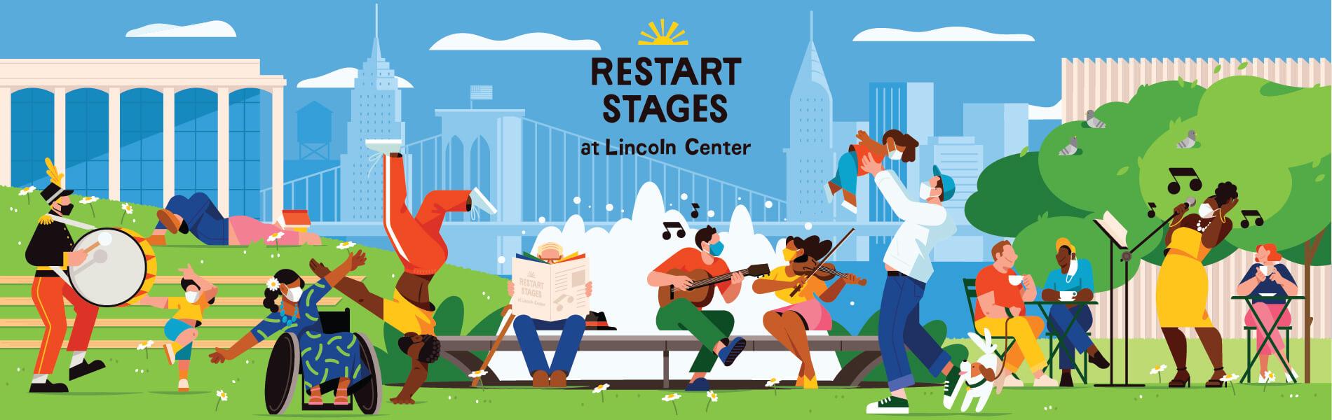 lincoln center restart stages parking
